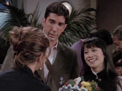 vrienden Ross en Janice hook up